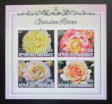 Poštovní známky Gabon 2017 Zahradní růže neperf. Mi# N/N