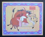 Poštovní známka Sierra Leone 1998 Disney, Lví král Mi# Block 392 Kat 8€