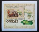 Poštovní známka Mosambik 2007 Kobry DELUXE Mi# 3001 Block