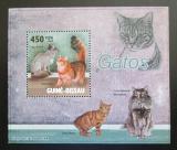 Poštovní známka Guinea-Bissau 2010 Kočky DELUXE Mi# 4579 Block