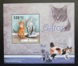Poštovní známka Guinea-Bissau 2010 Kočky DELUXE Mi# 4580 Block