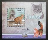 Poštovní známka Guinea-Bissau 2010 Kočky DELUXE Mi# 4581 Block