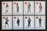 Poštovní známky Manáma 1971 Britské vojenské uniformy Mi# 592-99