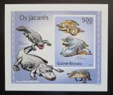 Poštovní známka Guinea-Bissau 2010 Aligátor severoamerický DELUXE Mi# 5003 Block