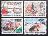 Poštovní známky Burundi 2011 Papež Jan Pavel II. Mi# 2186-89 Kat 9.50€