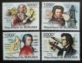 Poštovní známky Burundi 2011 Skladatelé Mi# 2154-57 Kat 9.50€