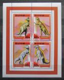 Poštovní známky KLDR 2000 Dinosauři Mi# Block 452 Kat 10€