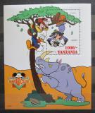 Poštovní známka Tanzánie 1994 Disney, Safari Mi# Block 266
