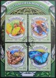 Poštovní známky Maledivy 2016 Motýli a minerály Mi# 6414-17