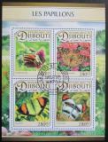 Poštovní známky Džibutsko 2017 Motýli Mi# N/N