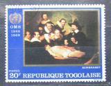 Poštovní známka Togo 1968 Umění, Rembrandt Mi# 656