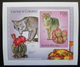 Poštovní známka Guinea-Bissau 2010 Kaktusy a kojoti DELUXE Mi# 5013 B Block