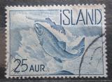 Poštovní známka Island 1959 Losos obecný Mi# 335