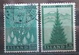 Poštovní známky Island 1957 Reforestace Mi# 320-21