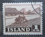 Poštovní známka Island 1950 Traktor na poli Mi# 267