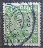Poštovní známka Island 1921 Král Kristián X Mi# 100