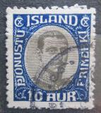 Poštovní známka Island 1920 Král Kristián X, služební Mi# 36