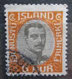 Poštovní známka Island 1920 Král Kristián X, služební Mi# 35