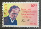 Poštovní známka Island 1988 Steinn Steinarr, básník Mi# 680