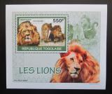 Poštovní známka Togo 2010 Lvi DELUXE Mi# 3469 Block
