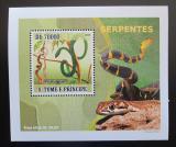 Poštovní známka Svatý Tomáš 2008 Hadi DELUXE Mi# 3363 Block