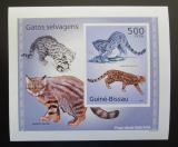 Poštovní známky Guinea-Bissau 2010 Kočkovité šelmy DELUXE neperf Mi# 5043 B Block