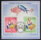 Poštovní známky Guinea-Bissau 2010 Ryby a korály Mi# Block 873 12€