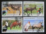 Poštovní známky Guinea-Bissau 2008 Africká fauna Mi# 3812-15 Kat 8€