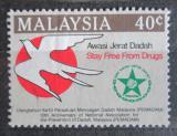 Poštovní známka Malajsie 1986 Boj proti drogám Mi# 339