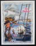 Poštovní známka Pobřeží Slonoviny 2018 Staré plachetnice Mi# N/N