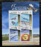 Poštovní známky Šalamounovy ostrovy 2015 Pád Concorde, 15. výročí Mi# 3072-75 Kat 17€