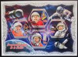 Poštovní známky Pobřeží Slonoviny 2018 Ruští kosmonauti Mi# N/N