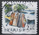 Poštovní známka Švédsko 1988 Harmonikář Mi# 1489
