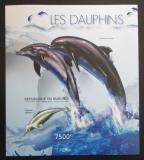 Poštovní známka Burundi 2012 Delfíni neperf., vzácné Mi# Block 293 B
