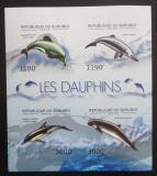 Poštovní známky Burundi 2012 Delfíni neperf., vzácné Mi# 2843-46 B