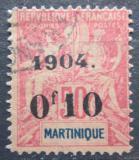 Poštovní známka Martinik 1904 Koloniální alegorie přetisk Mi# 52 Kat 20€