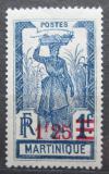 Poštovní známka Martinik 1926 Žena s ananasem přetisk Mi# 113