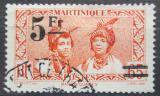 Poštovní známka Martinik 1945 Domorodkyně přetisk Mi# 229