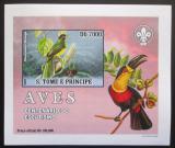 Poštovní známka Svatý Tomáš 2007 Ptáci DELUXE neperf. Mi# 3032 B Block