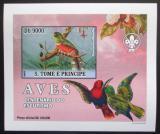 Poštovní známka Svatý Tomáš 2007 Ptáci DELUXE neperf. Mi# 3033 B Block
