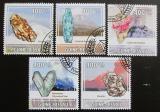 Poštovní známky Guinea-Bissau 2009 Minerály a sopky Mi# 4432-36