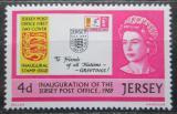 Poštovní známka Jersey, Velká Británie 1969 Otevření poštovních služeb Mi # 22