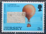Poštovní známka Jersey, Velká Británie 1973 Létající balón Mi # 81