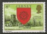 Poštovní známka Jersey, Velká Británie 1976 Kostel St. Saviour Mi # 136
