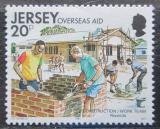 Poštovní známka Jersey, Velká Británie 1991 Výstavba ve Rwandě Mi # 554