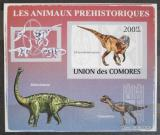 Poštovní známka Komory 2009 Dinosauři DELUXE neperf. Mi # 2170 B Block