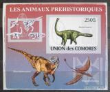 Poštovní známka Komory 2009 Dinosauři DELUXE neperf. Mi # 2171 B Block