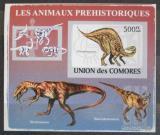 Poštovní známka Komory 2009 Dinosauři DELUXE neperf. Mi # 2174 B Block