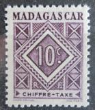 Poštovní známka Madagaskar 1947 Doplatní Mi# 31
