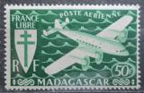 Poštovní známka Madagaskar 1943 Letadlo Mi# 369